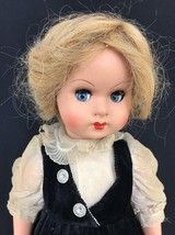 Vintage Ca. 1950s Italian Composition Flirty Eyed Girl Doll Blonde Unmar... - $51.43
