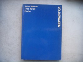 Volkswagen Dasher Type 32/33 Service Manual Repair & Maintenance. VW - $27.72