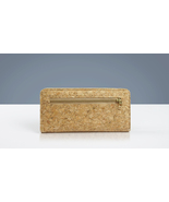 EcoQuote Back Zip Long Wallet Handmade Eco Friendly Cork Material For Vegan - $31.00