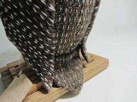Hawaiian Pueo Owl Sculpture Figurine Handwoven Fabric Yarn Fiber Art Spitz-Nagel image 9