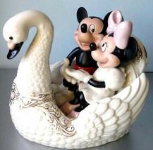Lenox Disney Romance Under The Stars Mickey & Minnie Ride on Swan New In... - £126.51 GBP