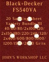 Black+Decker FS540VA - 17 Different Grits - 20 Sheet Variety Bundle III - $18.97