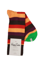 Happy Socks Men's Multi Striped Socks, Sock Size 10-13 - $7.43