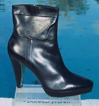 "Donald Pliner Couture Leather Boot Shoe New 3/4"" Platform Peace Zip 10 11 $535 - $240.75"