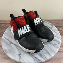 Nike Team Hustle D 8 Sneakers Black Red White Boys Size US 12C / EU 29.5 - $29.95