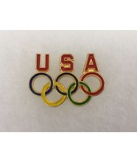 USOC36 USA Olympic Vintage Stamped PinBack Tie Tack Collectible Gift - $11.30