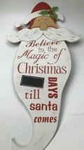 Santa Christmas Chalk Countdown Wooden Sign Xmas Countdown Sign - $19.99