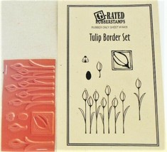 G-Rated Rubberstamps, Tulip Border Set