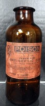 Antique Sharp & Dohme Pharmacy Bottle Green Antiseptic Disks Vaginal Use... - $47.49