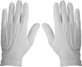 White Military Cotton Dress Parade Gloves - $131,69 MXN