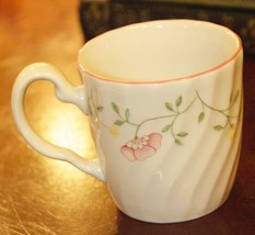 JOHNSON BROS SUMMER CHINTZ COFFEE MUG FLORAL SWIRL PORCELAIN ENGLAND RED... - $17.49