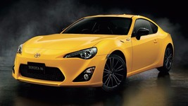 2017 Toyota 86 yellow 24X36 inch poster, sports car - $18.99