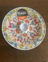 "Il Mulino Melamine Spanish Tile Medallion Tortilla Holder - Red Blue 9"" ... - $24.94"