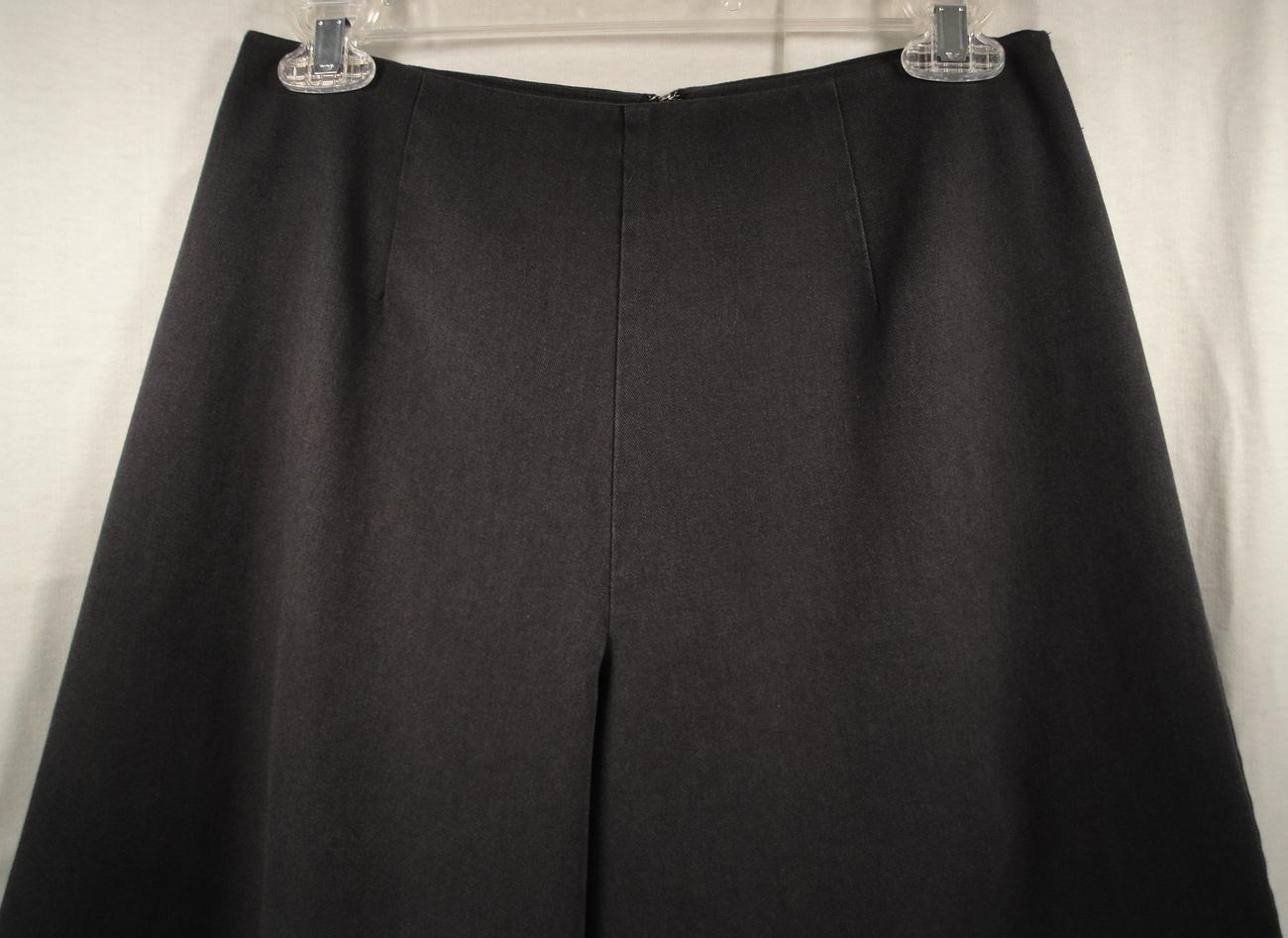 Extra Wide Leg Palazzo Flare Pants Black Handmade Ladies 28 inch waist 27 inseam