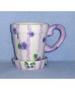 Lady Jayne Ltd Violets Mug w/Coaster Gift Set 2003 #9778Q - $7.99
