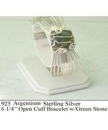 S.S. Green Stone Cuff (B20) - $70.00