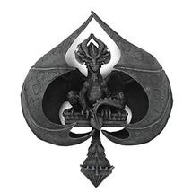 Pacific Giftware PT Winged Dragon Poker Card Spade Wall Mount Decorative Resin F - $79.19