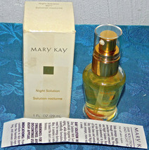 Mary Kay Nib Nos Night Solution Anti-Aging Solution Discontinued 1 Oz 6577 New - $14.01