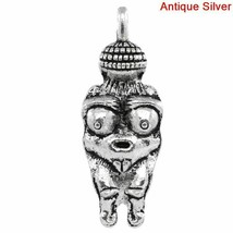 Pendants Zinc Alloy Antique Silver Color Charm Women Halloween Fashion A... - $4.94