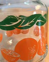 Vintage 70s Anchor Hocking oranges and leaves juice pitcher with cap image 4