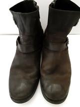 Harley Davidson Short Side Zip Harness Strap Leather Riding Boots Black ... - $29.70