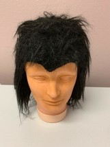 Vintage Halloween Costume Vampire Wig Paper Magic Group Black  - $19.35