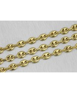 Mens Italian 14k Yellow Gold 6mm Puffed Gucci Mariner Link Chain Necklac... - $1,374.95