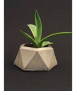 Concrete Succulent Planter - Facet - Plain - $18.00