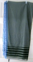 "Echo Gray sheer sari wrap scarf MINT HUGE 42"" x 76"" poly/rayon India - $39.59"
