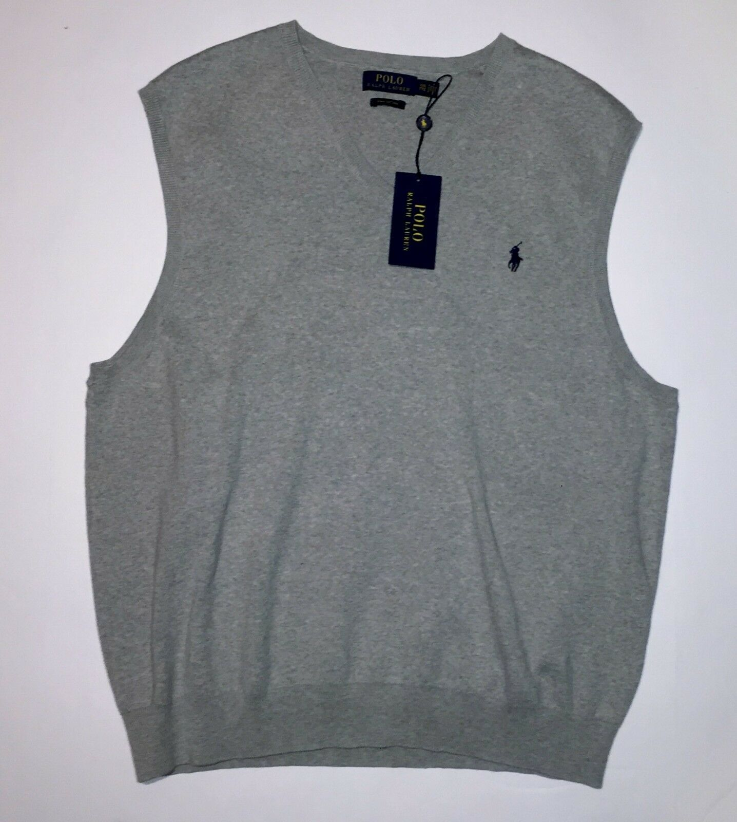POLO RALPH LAUREN Men's Sweater Vest Stone Gray NWT L
