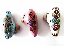 3 Mini Ocarinas Sweet Potato Ceramic Flute Handmade Collectable New Art ... - $10.00