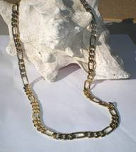 14k Gold Gep Figaro Chain 8 MM wide 24 inchs long - $22.96