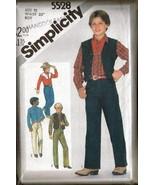 Vintage 1982 Simplicity #5528 Boy's Western Clo... - $8.00