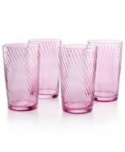Martha Stewart Collection Harvest 4-Pc. Amethyst Highball Glass Set - $66.33 CAD