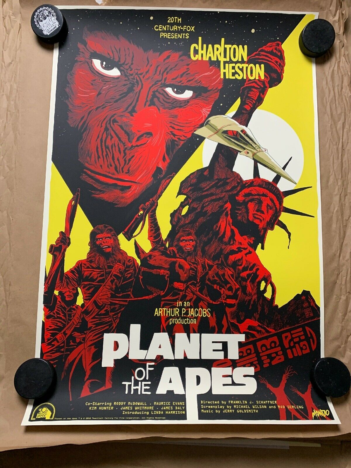 Primary image for PLANET OF THE APES MONDO 24x36 Poster by Francesco Francavilla /250