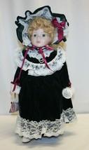 Porcelain Doll Green Eyes Blond Hair Princess House - 969/2500 - $29.69