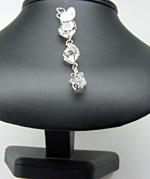 Jewelry By Two Gems (Wp94) Sterling Silver Pendant w Triple Herkimer Drops