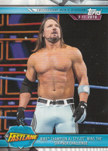 AJ Styles 2019 Topps WWE Road To Wrestlemania Card #90 - $0.99
