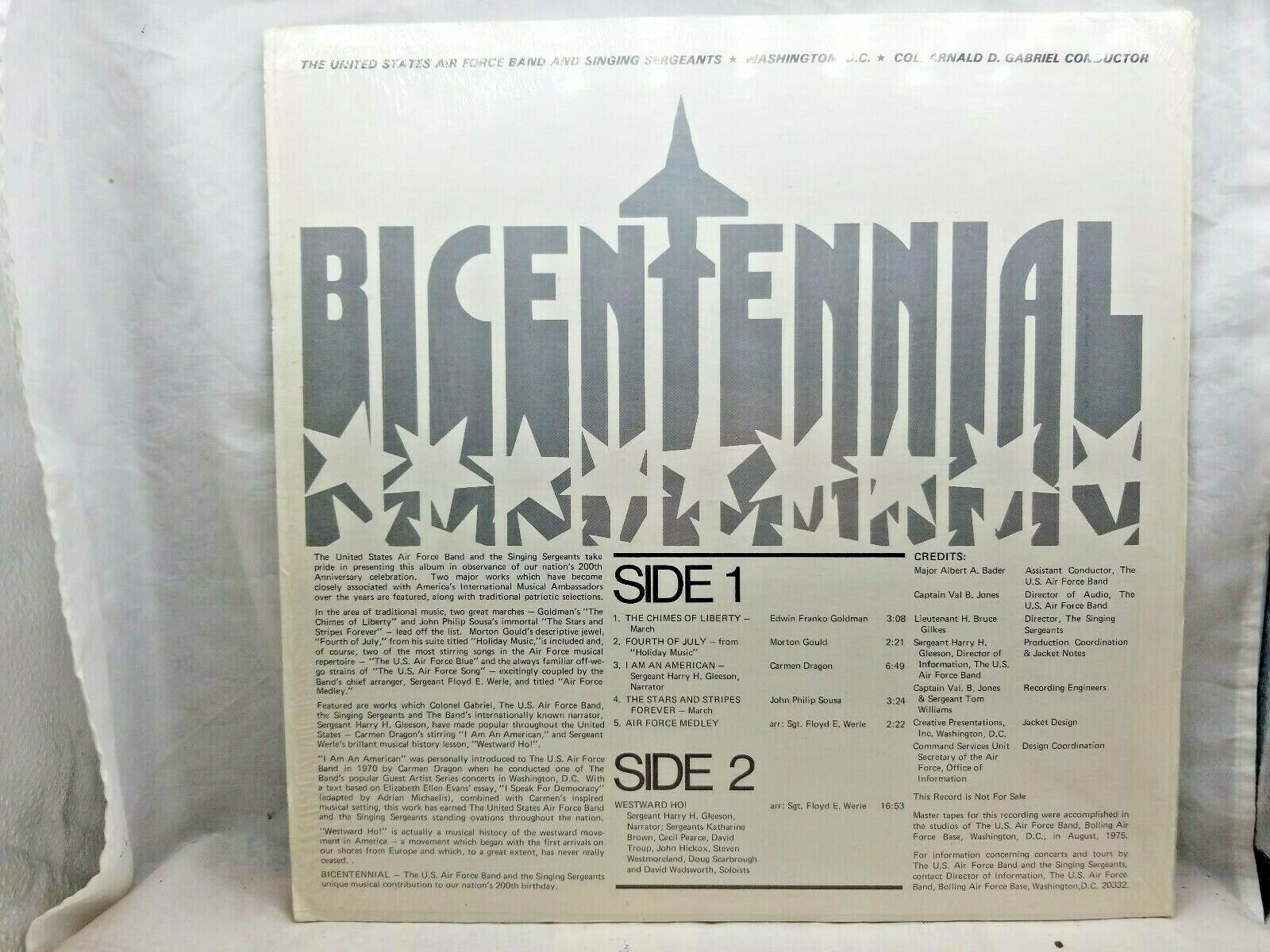 "BICENTENNIAL United States Air Force Band VINYL 12"" Record Stereo 33 LP 1975 EX"