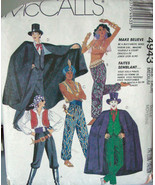 Pattern 4943 Genie, Pirate, Magician & Joker Costumes Adult Medium 36-38... - $6.99