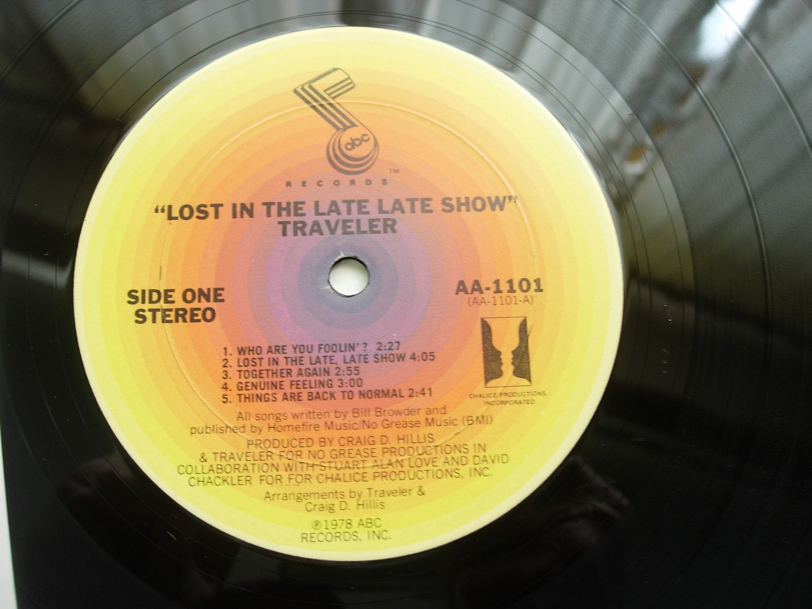 Traveler - Lost in the Late Late Show - ABC AA 1101