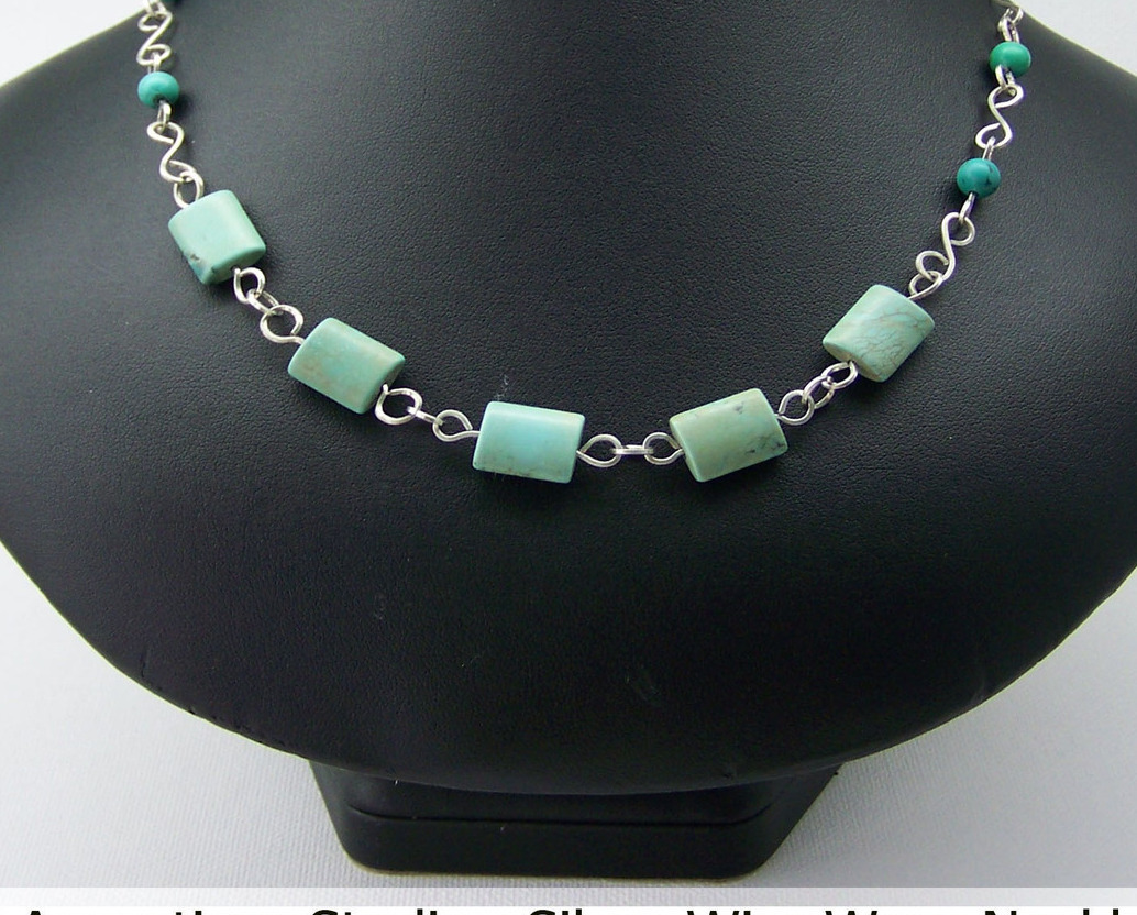 S. S. Necklace w Turquoise (WN72)