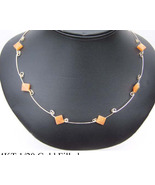 14 KT GF Necklace w Peach Adventurine (WN6) - $51.00