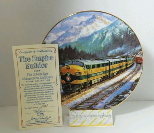 The Empire Builder Golden Age American Railroads Collectible Plate Ted Xaras