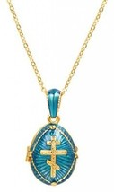 U7 Orthodox Cross Pendant And Chain 22 18K Gold Plated Enamel Message Necklace - $32.91