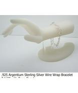 Steling Silver Bracelet w Rose Quartz (B37)  - $35.00