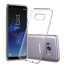 Thin Clear Case for Galaxy S9 S8 Note 8 S7 Rubber Gel Transparent Soft S... - $5.67+