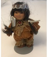 """Fancy Friends Collectible Native American Indian Porcelain Doll  4"""" - $14.03"""