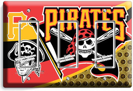 PITTSBURGH PIRATES BASEBALL TEAM 3 GFCI LIGHT SWITCH PLATES MAN CAVE ROO... - $17.99