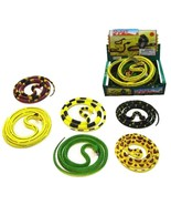 BUY 1 GET 1 FREE ASST LARGE 55 IN RUBBER SNAKES  fake play snake TOY REP... - $6.27